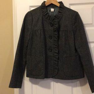 JCrew Wool Blazer with ruffled collar